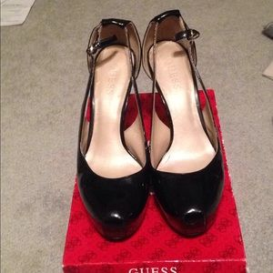 Guess Black Rounded Toe Stiletto